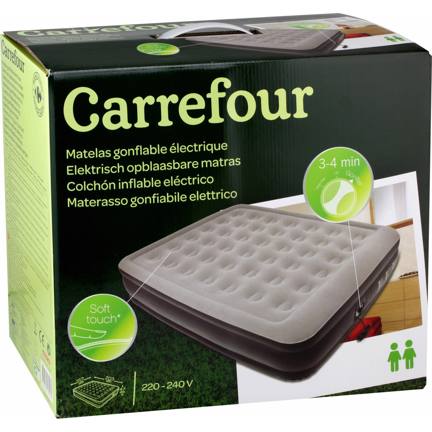 matelas gonflable intex 2 places carrefour. Black Bedroom Furniture Sets. Home Design Ideas