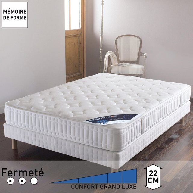 matelas simmons memoire de forme trendy top erstaunlich matelas simmons x x conforama but lotus. Black Bedroom Furniture Sets. Home Design Ideas